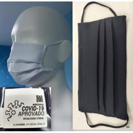 Pack 2 Mascaras Reutilizáveis cor preto