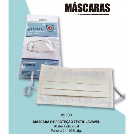 Máscara de proteção têxtil lavável
