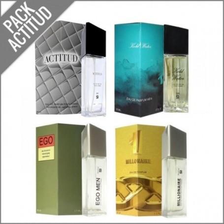 Conjunto SerOne Pack Homem com quatro Perfumes, frascos de 50ml.