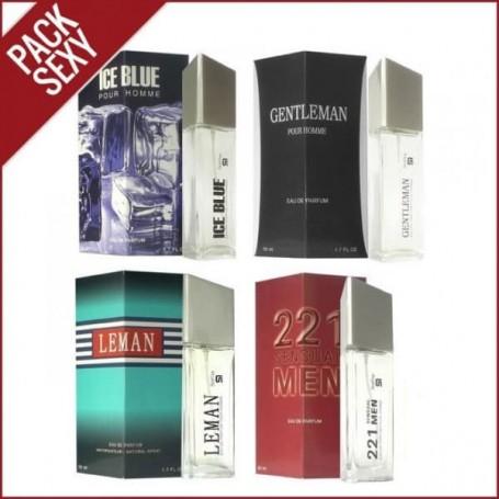 Conjunto SerOne Pack Sexy Man quatro perfumes, frascos de 50ml.